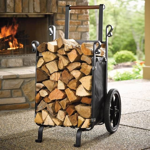 Save trips and your back when moving large loads of logs with our exclusive, heavy-duty Firewood Companion. The waterproof, durable polyester liner protects your wood while rugged rubber wheels traverse any terrain. Passes through standard 30 doorways Extra-large capacity minimizes trips Solid-steel axle and steel frame boast a corrosion-resistant finish Feature large rubber wheels and wood handle ...
