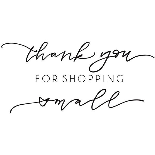 Shop Exclusive rubber stamp Thank you for shopping small modern... (€18) ❤ liked on Polyvore featuring home, home decor, office accessories and modern office accessories