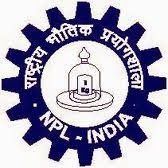 National Physical Laboratory JRF, Project Fellow Recruitment 2013
