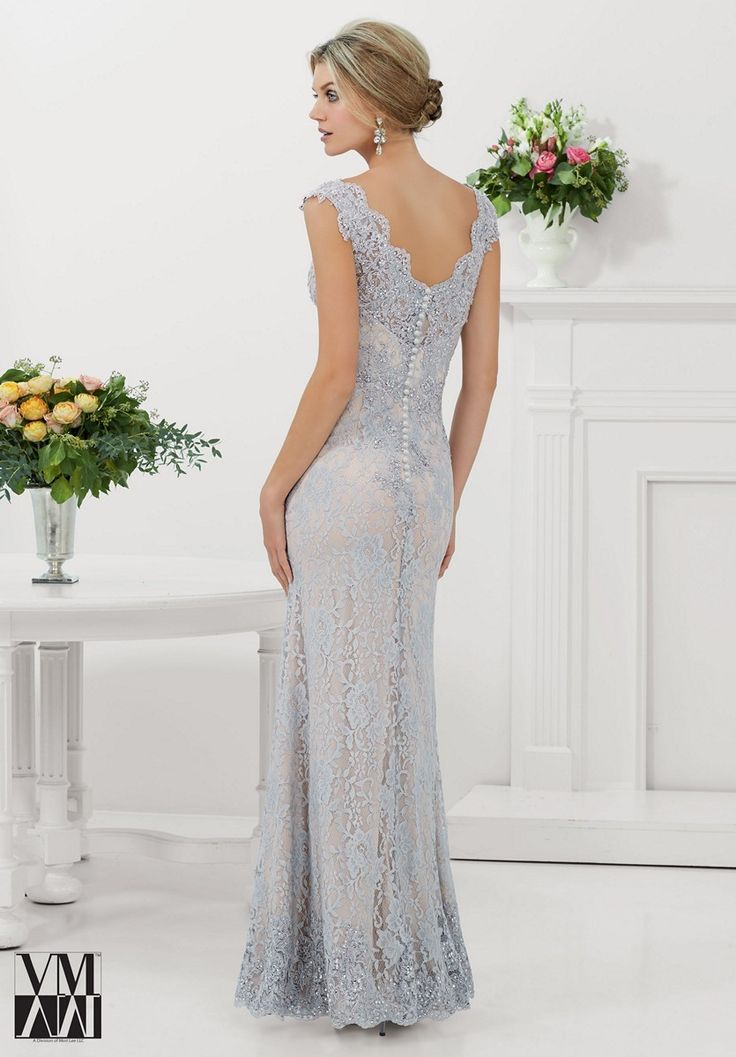 Mori Lee VM 70921 | Long sleeve lace evening gown, Lace