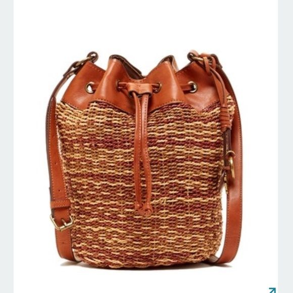"""Lucky brand bag - Adjustable shoulder strap - Drawstring and magnetic snap closure - Exterior features woven construction  - Interior features 1 wall zip pocket, and 2 slip pockets - Approx. 15.5"""" H x 11.5"""" W x 5"""" D - Approx. 26"""" strap drop ❗️price firm ❗️ Lucky Brand Bags Crossbody Bags"""