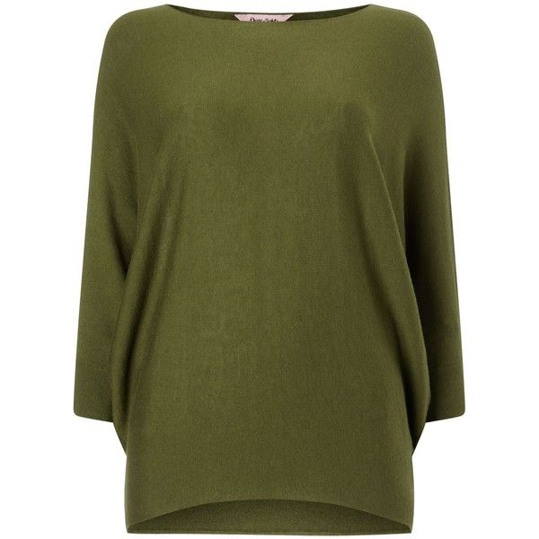 Phase Eight Becca batwing knit jumper ($73) ❤ liked on Polyvore featuring tops, sweaters, olive, sale, green knit sweater, knit sweater, jumper top, green jumper and batwing top