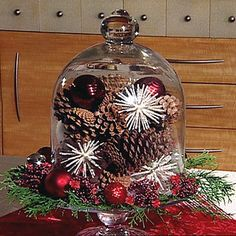 Awesome Glass Holders With Christmas Balls And Pine Cones   Google Search. Seasonal  DecorHoliday ...