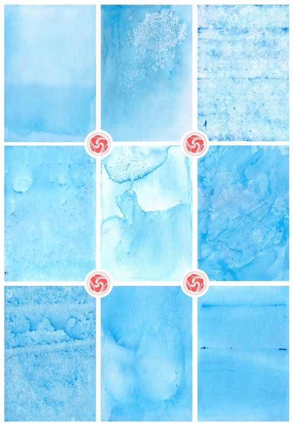 Sea Blue Watercolor Backgrounds by Anku Graphics on @creativemarket