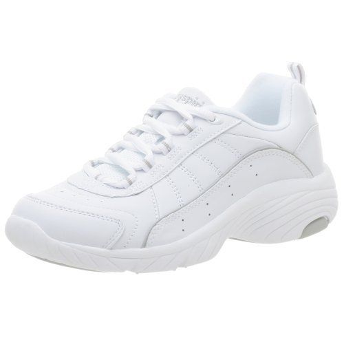 """Easy Spirit Women's Punter Athletic Shoe Easy Spirit. $54.88. Dual density outsole. Breathable upper materials and footbed. Foam padded comfort lining. Heel measures approximately 1 3/4"""". Rubber sole. Combination lacing for customized fit. leather. Platform measures approximately 0. inches"""