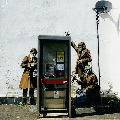 """Banksy """"Spy Booth"""" house for sale"""