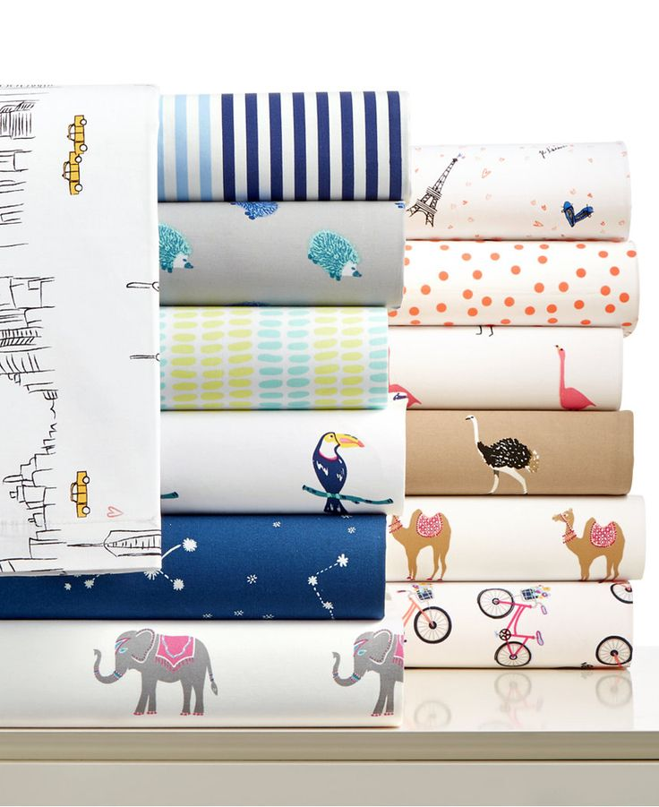 Martha Stewart Whim Collection Novelty Print Cotton Percale Percale Twin Sheet Set, Only at Macy's - Sheets - Bed & Bath - Macy's