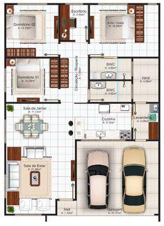 Projeto Arquitetônico: Casa Goiânia • Cód. 104 • R$ 595,00
