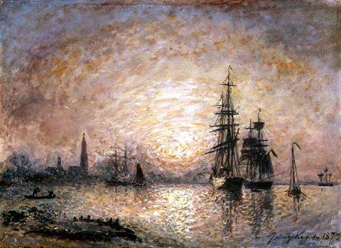 Johan Barthold Jongkind - Vue du port d'Anvers (1873)