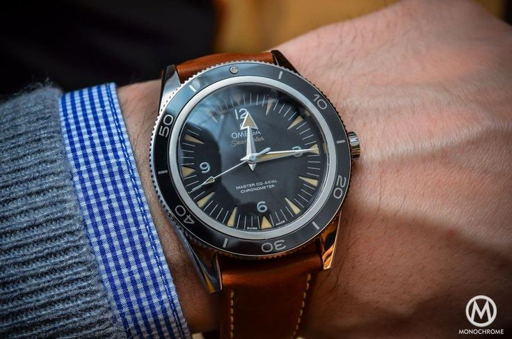 The Omega Seamaster 300 Master Co-Axial Chronometer now on Leather strap (live pics, specs & price) - Monochrome-Watches