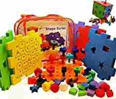Amazon.com: Shape Sorter Activity Cube Peg Board Set Busy Box - 7 Toys in 1. Baby Sorting Block for Toddler Toys Girls & Boys. 31pc Skoolzy Pegboard Shapes Colors Stacking Fine Motor Developmental Puzzle Mat Game: Toys & Games