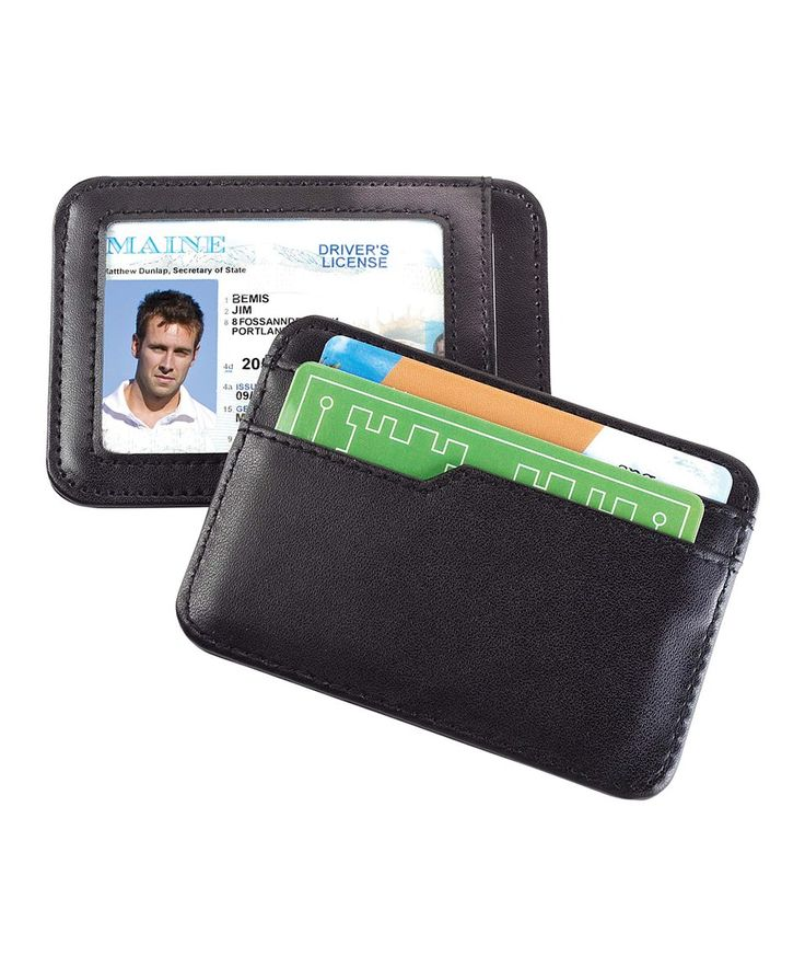 Take a look at this RFID-Blocking Leather Card & ID Case today!