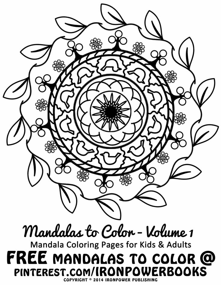 Free art therapy for kids free easy mandala coloring pages for kids and adults