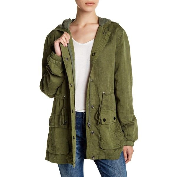 Peace Love World Proud Supporters of Love Military Jacket ($55) ❤ liked on Polyvore featuring outerwear, jackets, green, green military jacket, field jackets, hooded jacket, zipper jacket and green field jacket