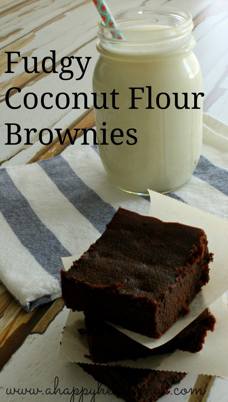 Fudgy Coconut Flour Brownies