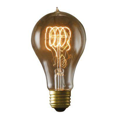 Bulbrite Victorian Loop Filament A21 Incandescent Edison Light Bulb - 4 pk. - BULB534-1