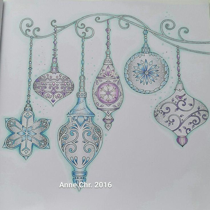 Johanna Basford, Christmas. My choice of colours.