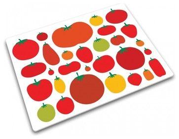 Mixed Tomato Worktop Saver contemporary cutting board