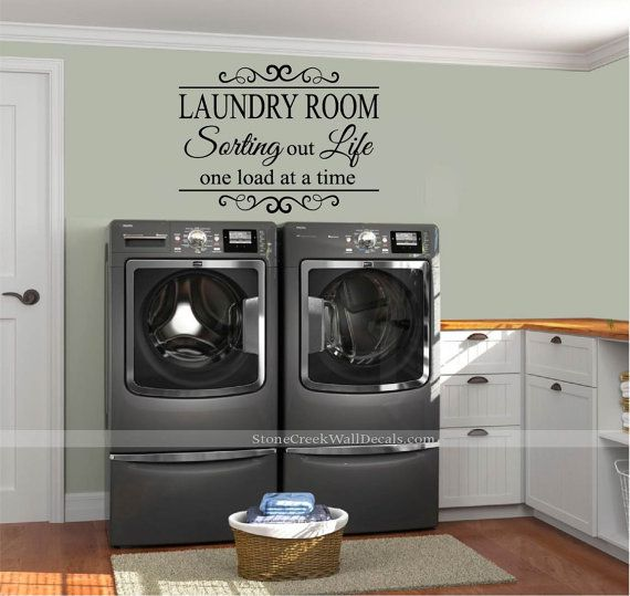 The Laundry Room Sorting Out Life  Vinyl Wall Decal Large