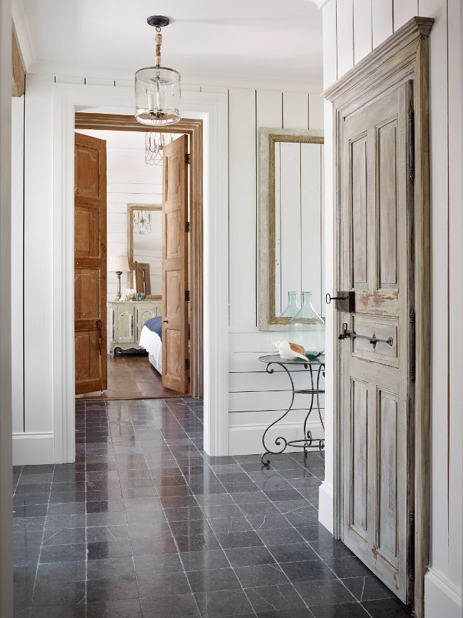871 best doors images on pinterest barn doors paint for Bluestone flooring interior