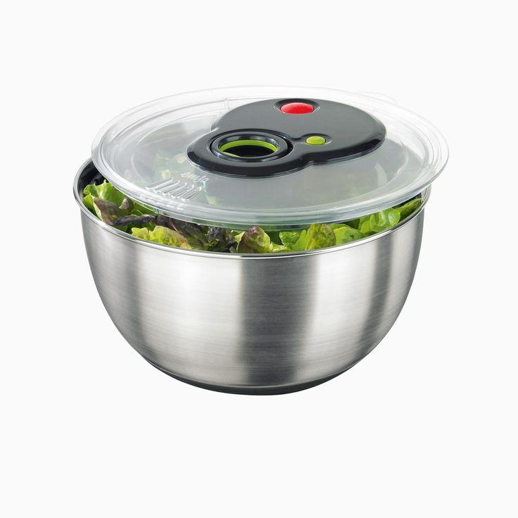 Emsa Turbo-Salatschleuder mit Edelstahlschüssel