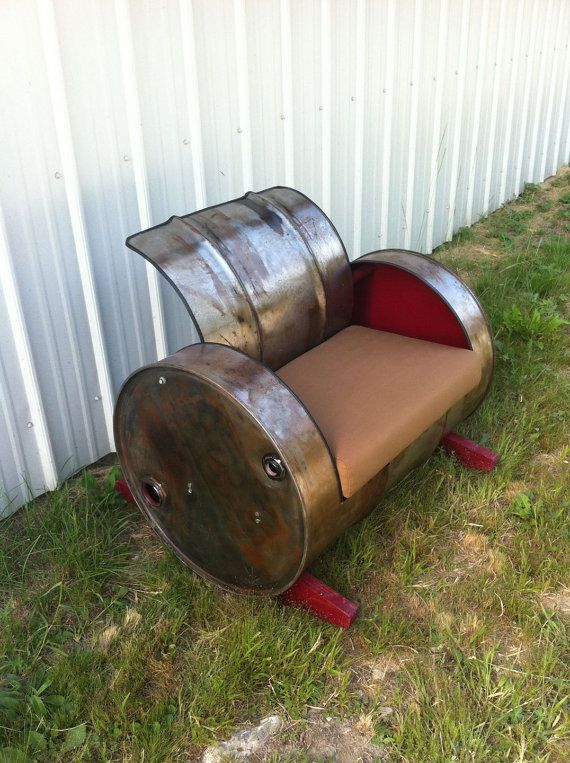 Upcycled Barrel Rocking Chair by CountryNuisance on Etsy, $400.00