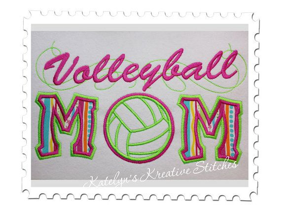 Volleyball  Mom Applique with a Twist  by KatelynsKreativeS, $5.99