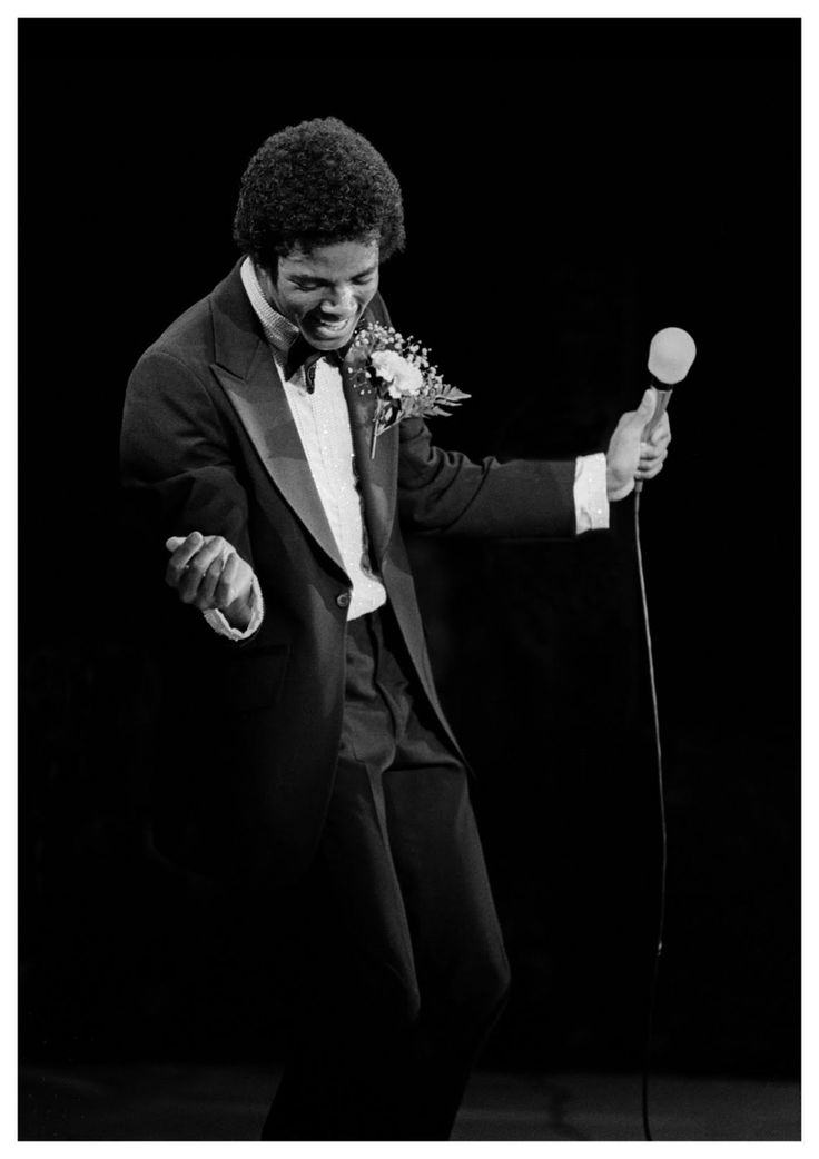 Michael Jackson performing at Nassau Coliseum in New York, 1980. Photo by Andy Freeberg.