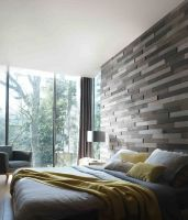 """Parements bois auto-adhésif """"MoMA"""" en briquettes - des nuances grisées super graphiques! Pour une décoration originale : choisissez le parement bois Imberty, la collection Néographe présente notamment ce parement MoMA : un parement bois 3D ! L'effet reflief apportera de la luminosité à votre intérieur. Un vrai jeu de textures sur vos murs, en soubassement ou en tête de lit. Posez ce parement au gré de vos envies : il est auto adhésif! #bois #déco #imberty"""