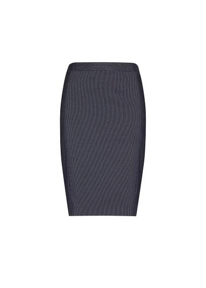 MANGO - Falda raya diplomática