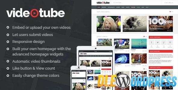 VideoTube v2.2  A Responsive Video WordPress Theme Free at DLEWordPRess