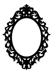 Mirror Silhouette Frames Oval Frame Silhouette
