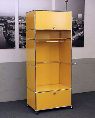 usm haller garderobenschrank garderobe goldgelb ral 1004. Black Bedroom Furniture Sets. Home Design Ideas