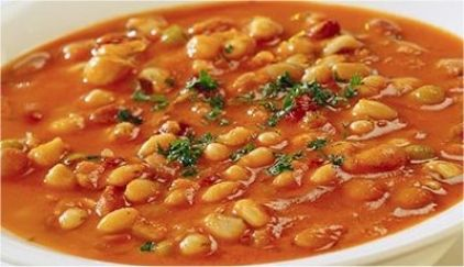 Ingredients: 200 gr white beans 2-3 carrots sliced 1/2 a celery 1 onion, 1-2 tomatoes grated 1-2 peppers 1-2 chillies (peppers, by choice) parsley olive oil salt