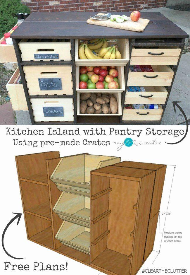 Kitchen Cabinet Plans Free Fresh Rolling Kitchen Island And Pantry Storage Kitchen Island Storage Diy Kitchen Storage Rolling Kitchen Island