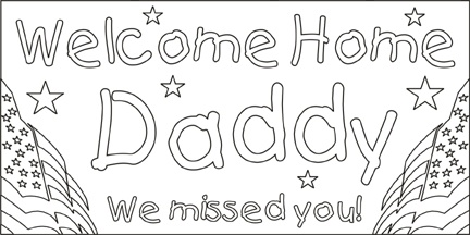 welcome sign coloring pages - photo#22