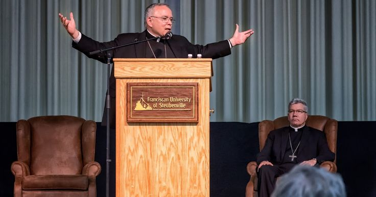 """"""" When our hearts rest in God then the times will change because God will use us to change them .""""       Abp. Chaput's talk at Franciscan Un..."""