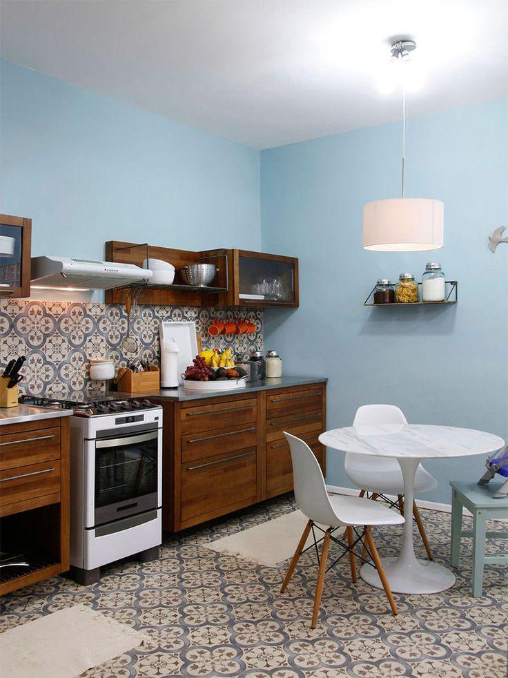 15-ladrilho hidraulico parede e piso cozinha