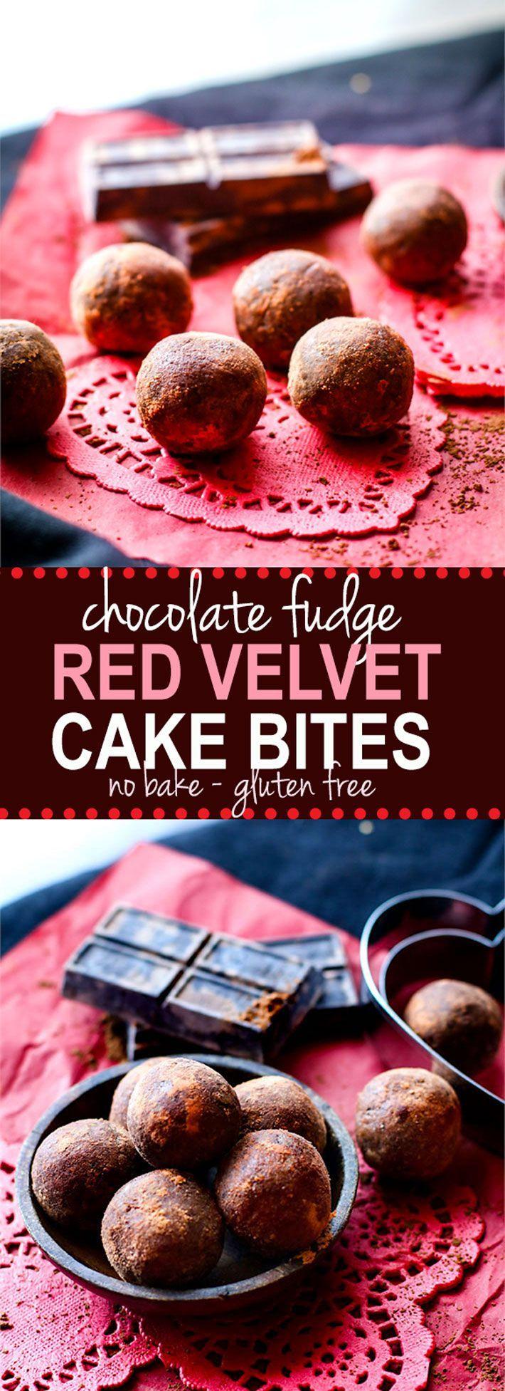 Chocolate Fudge Red Velvet Cake Bites! Gluten Free red velvet cake ...