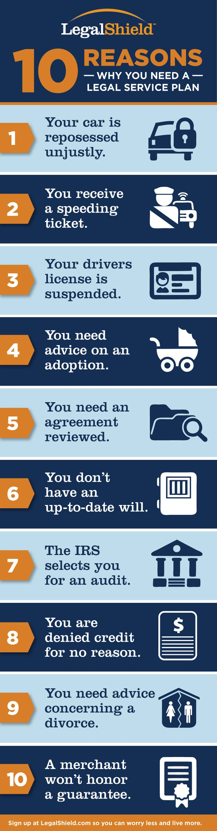 10 Reasons Why Every Family Needs a Legal Plan. Visit my site for details! www.danisha83.legalshield.com