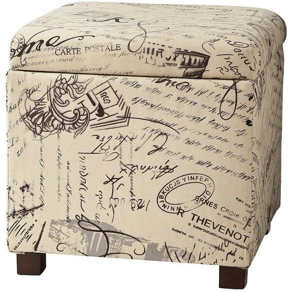 Square Storage Ottoman - Woven Script (220 BRL) ❤ liked on Polyvore featuring home, furniture, ottomans, woven footstool, square storage ottoman, home storage furniture, script ottoman and storage furniture