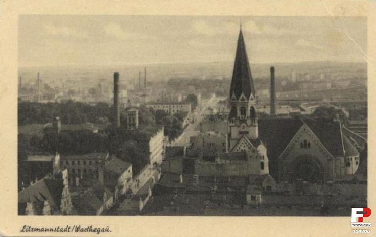 Kościół ewangelicko-augsburski św. Mateusza, Łódź - 1942 rok, stare zdjęcia