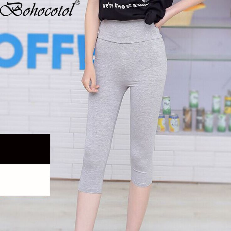 Bohocotol 2017 Hot Sale Summer Damen 3/4 Capri Leggings Leggins blickdicht Baumwolle Hose Wasche S M L XL  #Affiliate