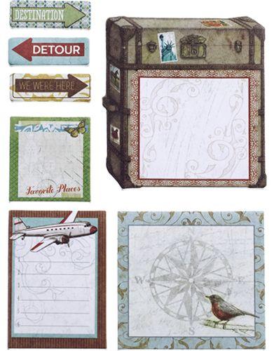 Zestaw karteczek Tim Coffey Travel | Papier Ozdobny \ Uniwersalny Producenci \ KandCompany Albumy \ Dzienniki Smashbook Papier Ozdobny \ Podróż