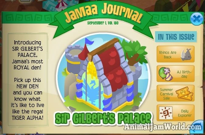 Lemurs are Coming & Sir Gilbert's Palace animal-jam-sir-gilberts-palace  #AnimalJam #News http://www.animaljamworld.com/lemurs-coming-sir-gilberts-palace/
