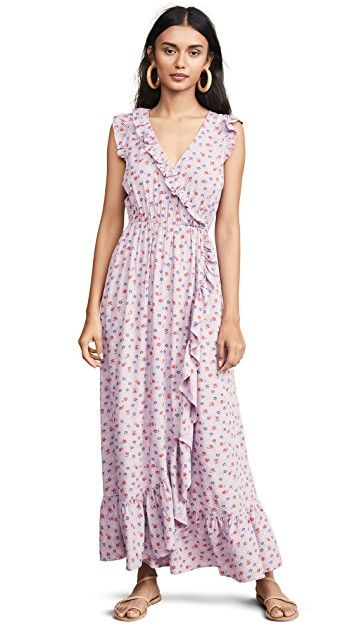 ff91acd91f807 Ruffle-Edged Wrap Maxi Dress in Prairie Posies in 2019 | Dressed Up ...
