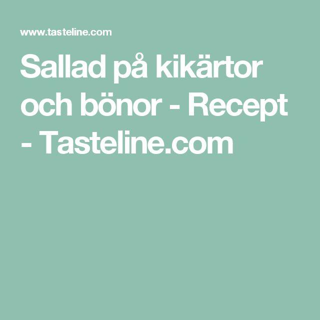 Sallad på kikärtor och bönor - Recept - Tasteline.com
