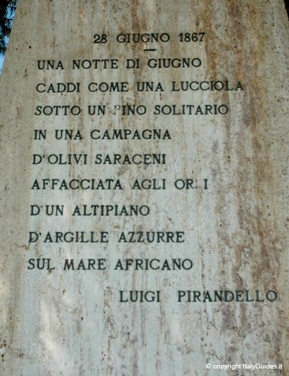 LUIGI PIRANDELLO, 28 giugno 1867