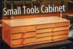 Small Tools Cabinet Plans - Workshop Solutions Plans, Tips and Tricks   WoodArchivist.com