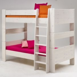 buy homestead living kids bunk bed frame whitewashed from our bunk beds range tesco - Einfache Hausgemachte Etagenbetten